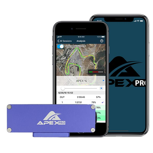 APEX Pro Digital Driving Coach backplate with App