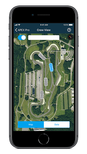 Watch any driver with an APEX Pro live, from anywhere, with the APEX Pro iOS app