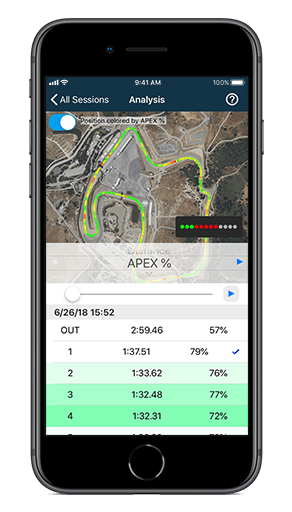Improve your lap times at the track; use APEX Pro Digital Driving Coach as your track coach.