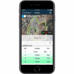 APEX Pro Digital Driving Coach iOS app data analysis with Apex Score