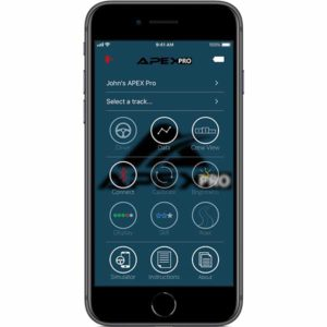 Simple, elegant, easy to navigate and use iOS app to control your APEX Pro Digital Driving Coach unit
